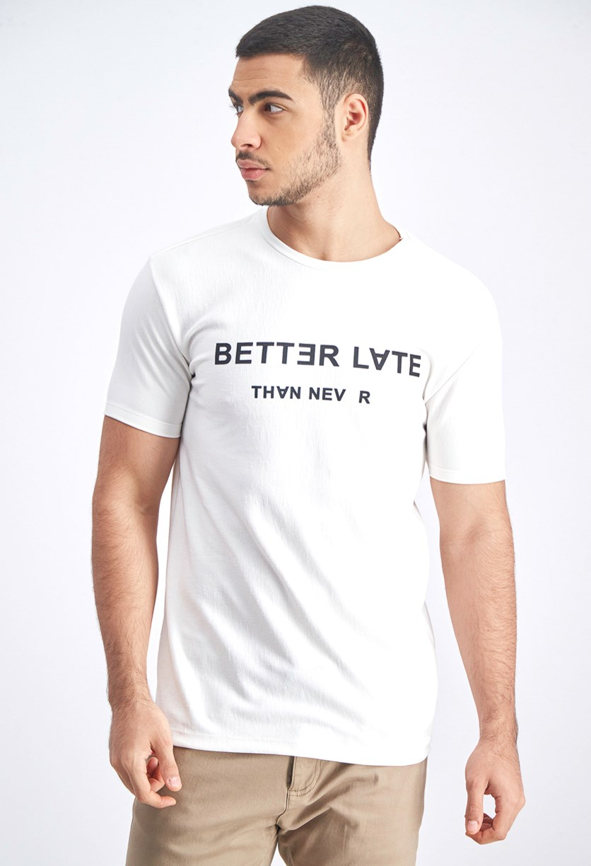 Men's Graphic T-Shirt, Offwhite