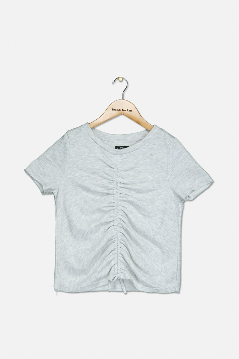 Girl's Short Sleeve T-Shirt, Grey Heather