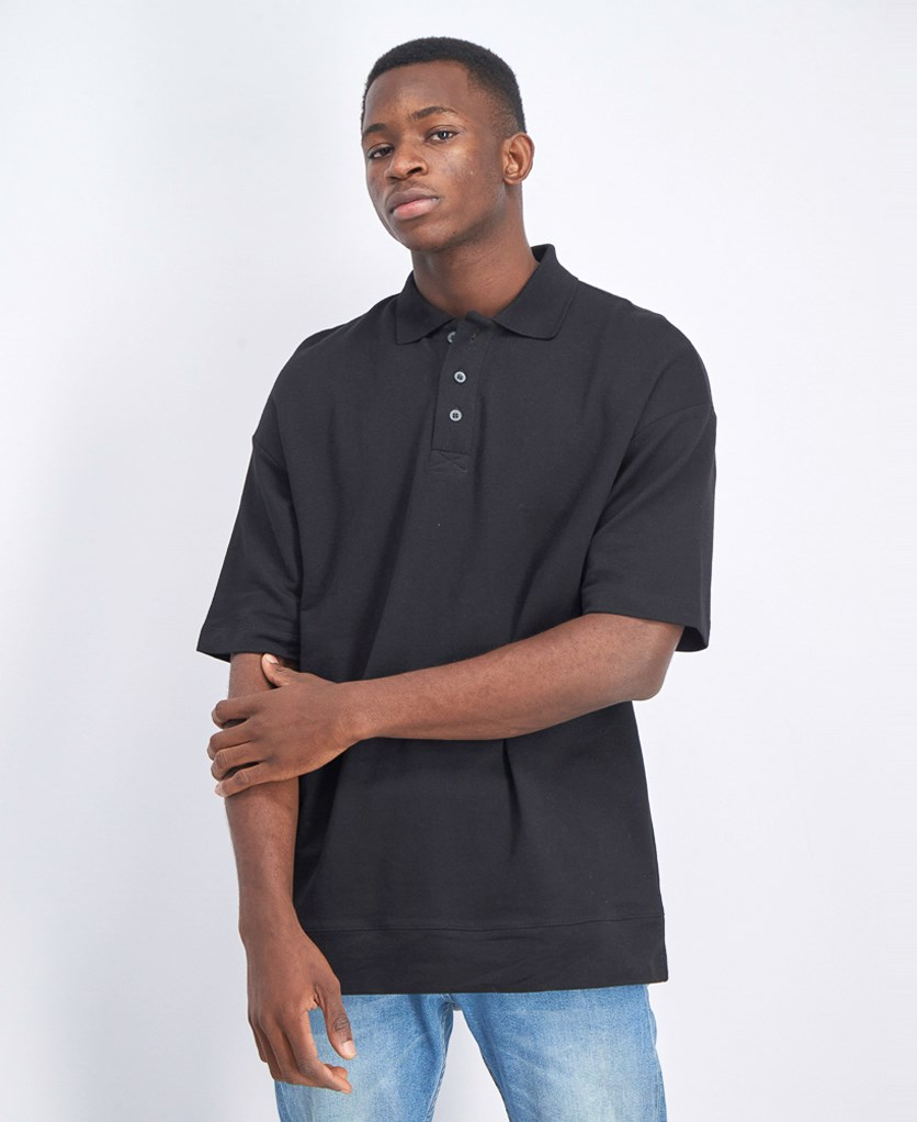 Men's Plain Polo Shirt, Black