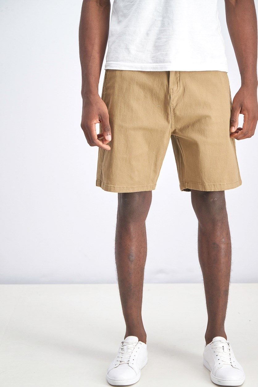 Mens Straight Fit Bermuda Shorts, Sand