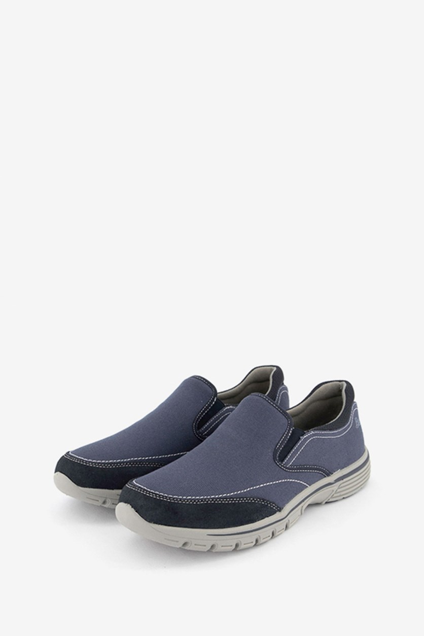 Men's Bass Stride Slip On Shoes, Navy