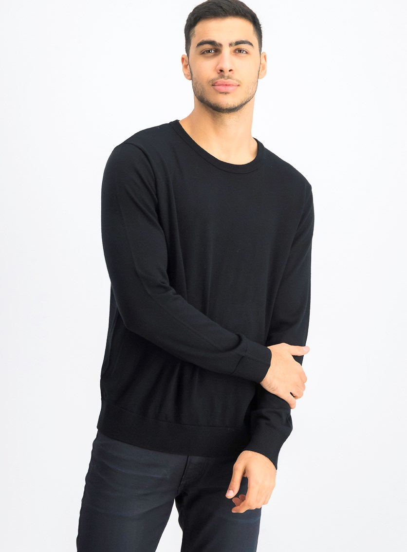 Men's Long Sleeve Pullover Sweater, Black