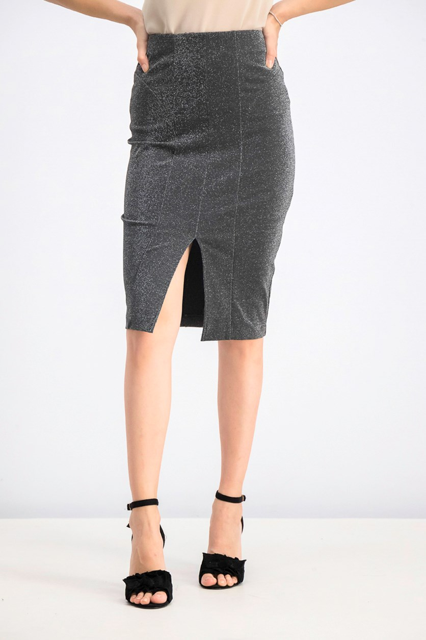 Women's Pencil Skirt, Black/Grey