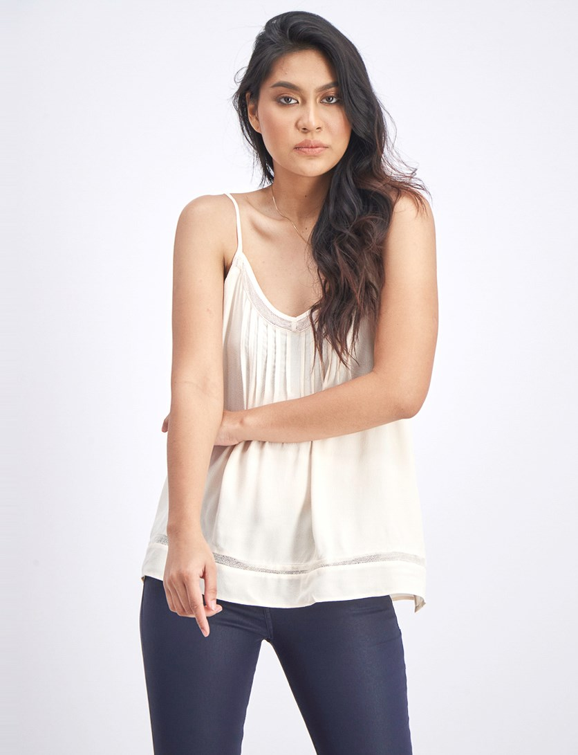 Women's Sleeveless Top, Beige/Blush