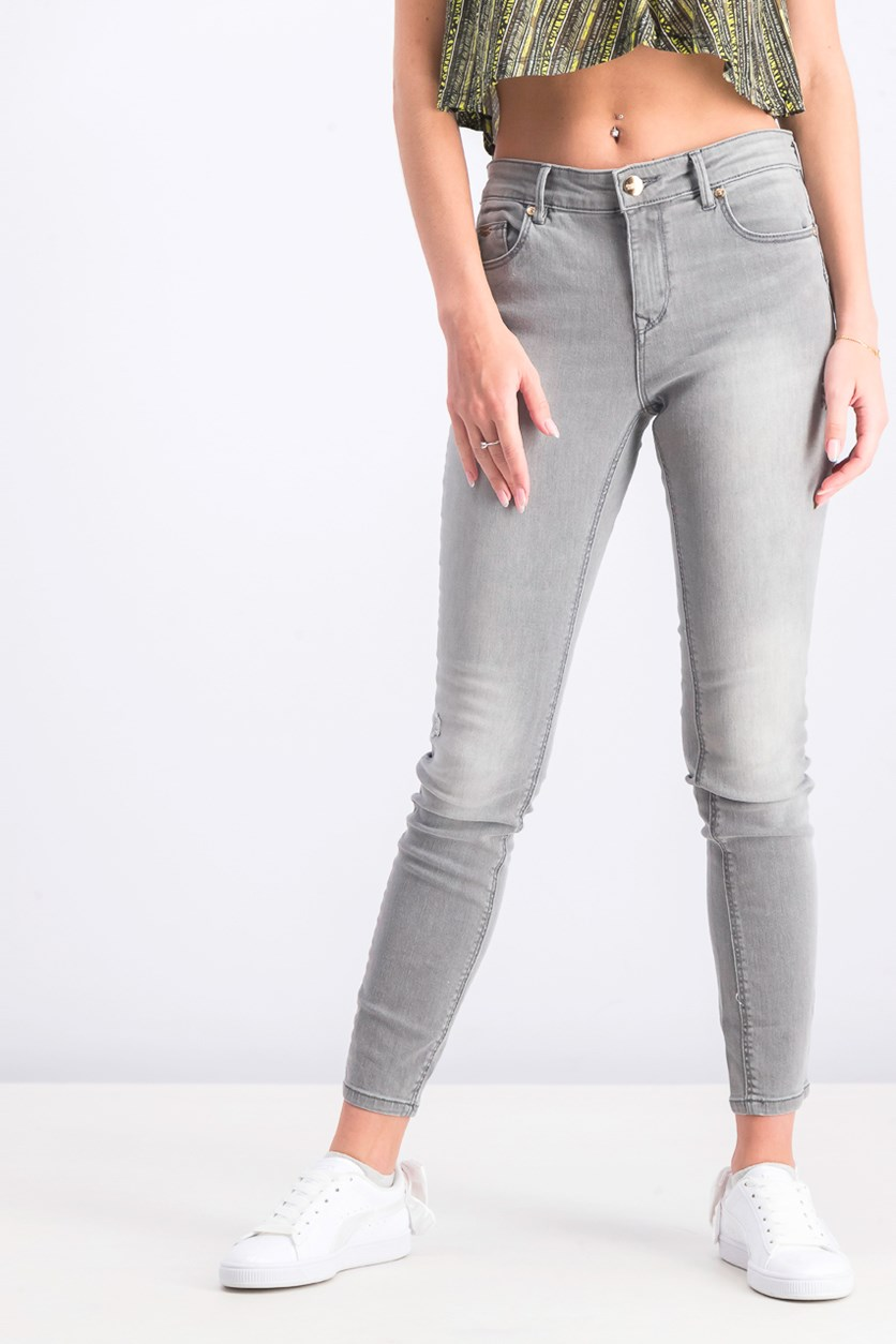 Women's Push Up Denim Jeans, Gray