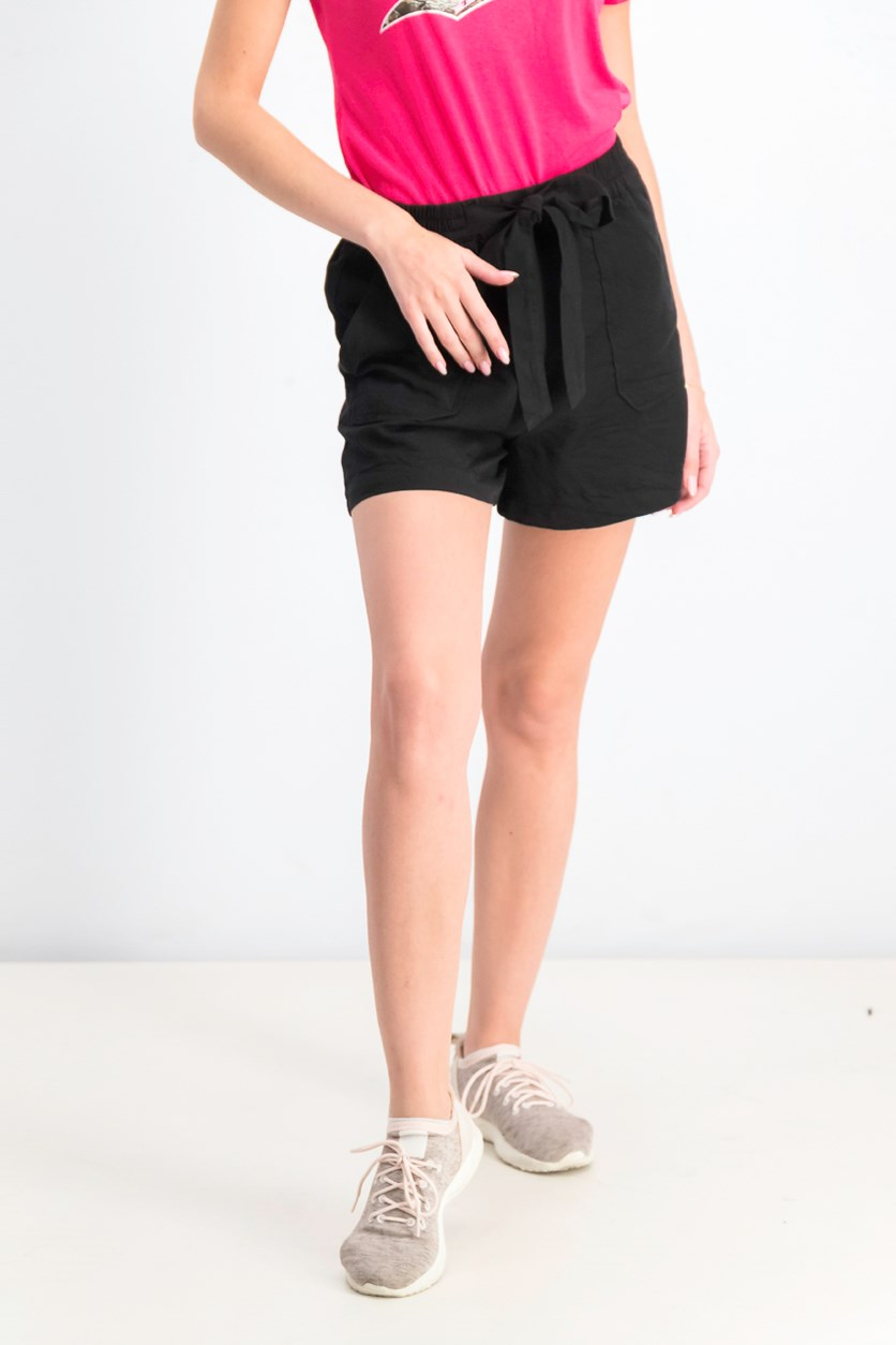 Women's Tie Shorts, Black