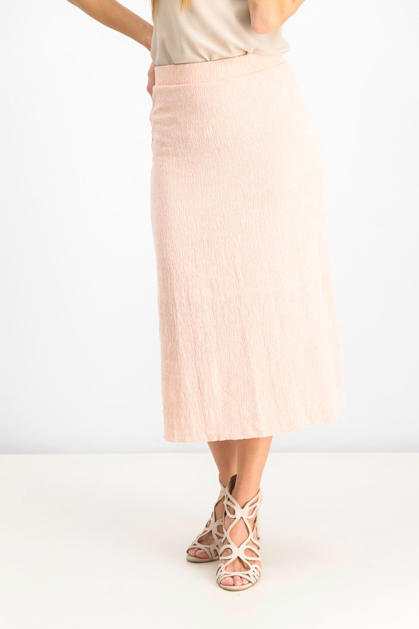 Women's Textured Skirt, Peach