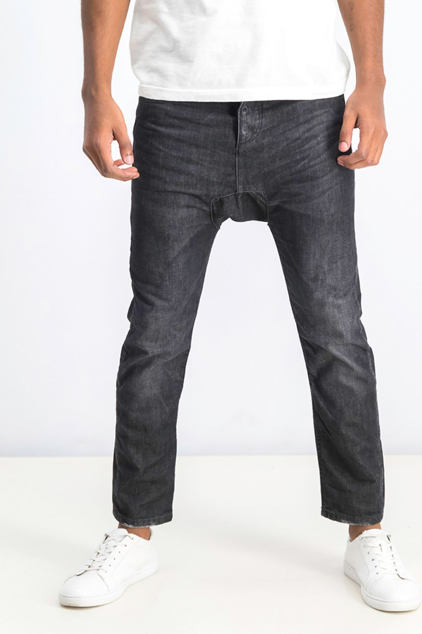 Men's Baggy Jeans, Wash Black