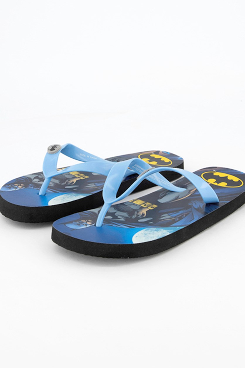 Kids Boys Batman Flipflops, Blue