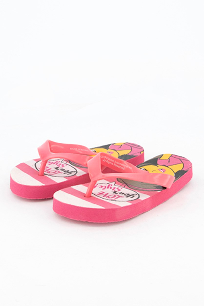 Toddler Girls Dora Love Your Style! Flipflops, Pink/White