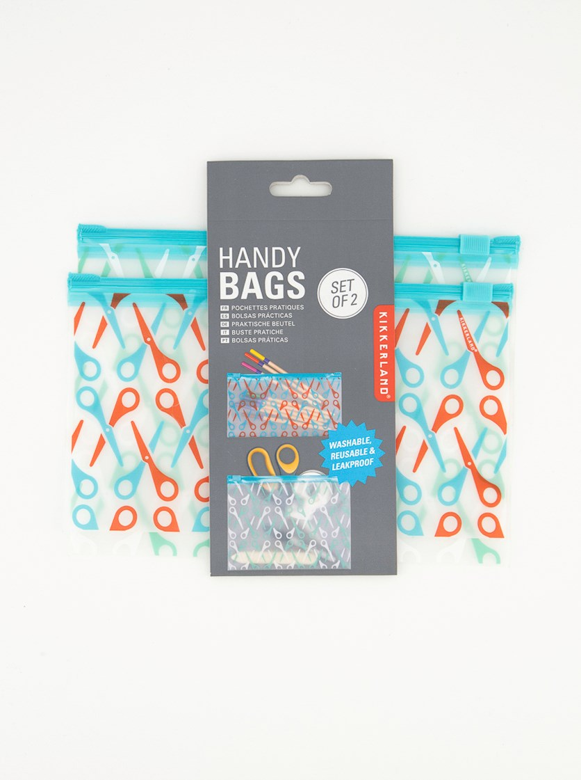 Handy Bags Set of 2, Turquoise