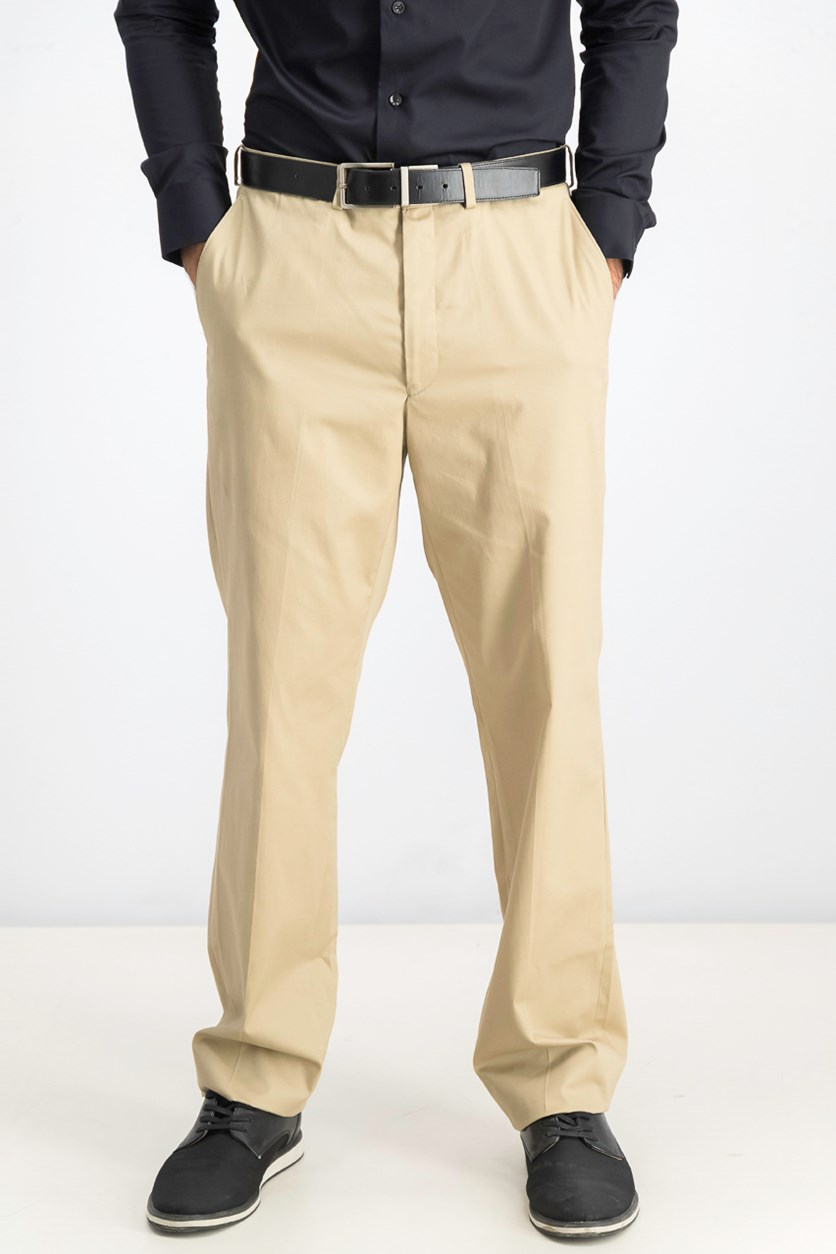 Mens' Slim-fit Pants, Tan
