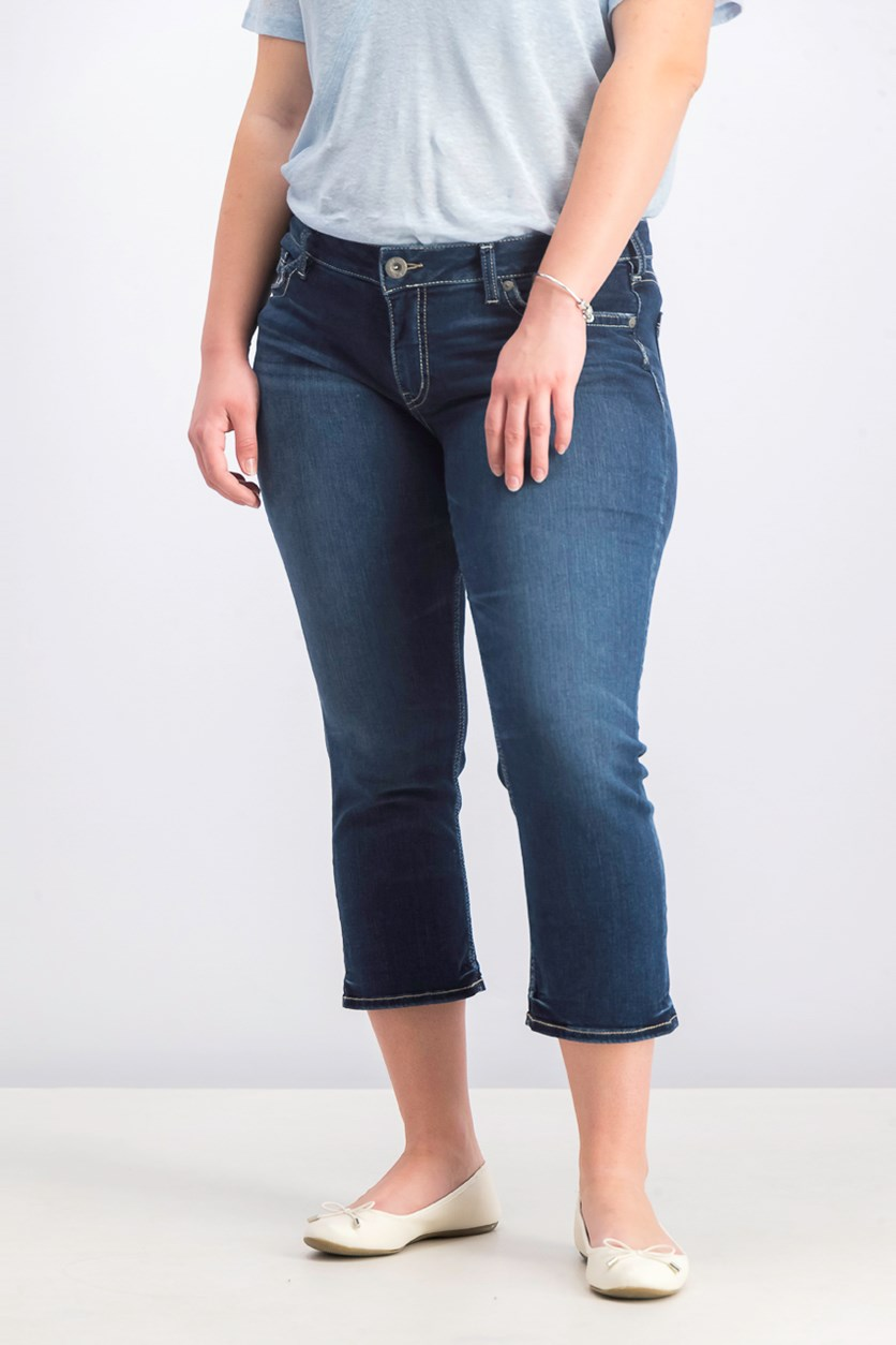 Women's Curvy-Fit Cropped Jeans, Indigo