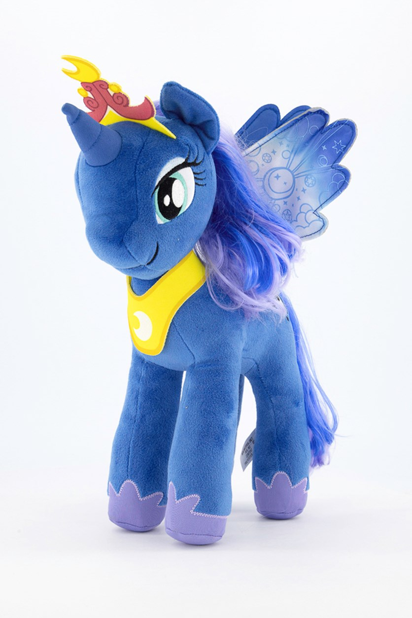 Little Pony Rooted Hair Plush, Blue/Yellow