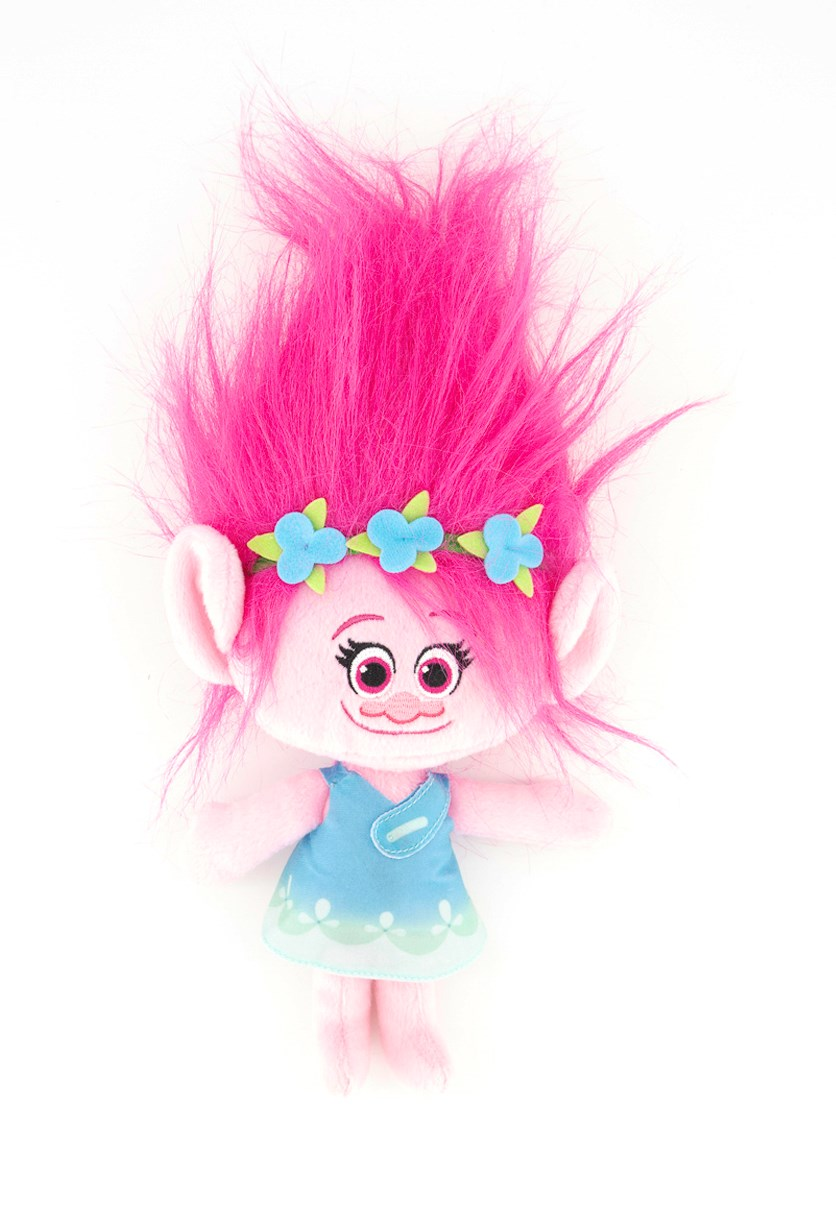 Dreamworks Trolls Puppy Hug And Plush Dolls, Pink/Turquoise