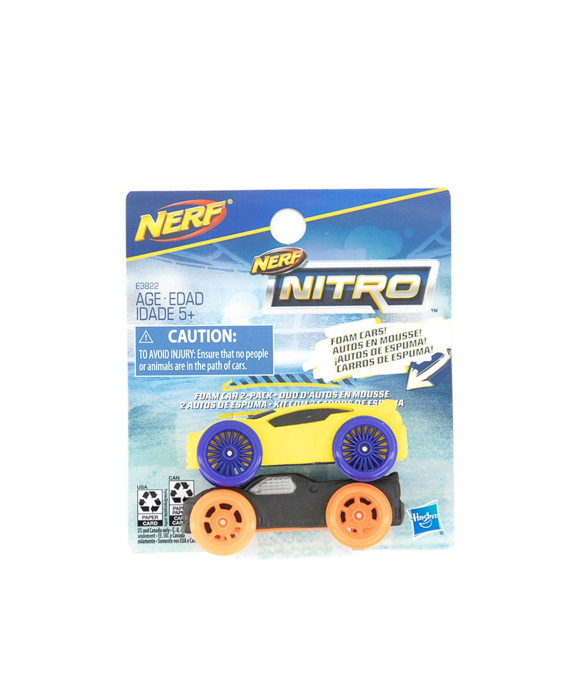 Foam Car 2-pack, Yellow/Black