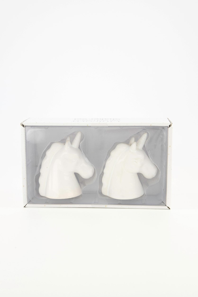 Unicorn Salt and Pepper Shakers, White