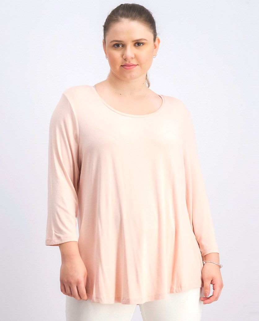 Women's Petite Empire-Waist Top, Pointe Pink