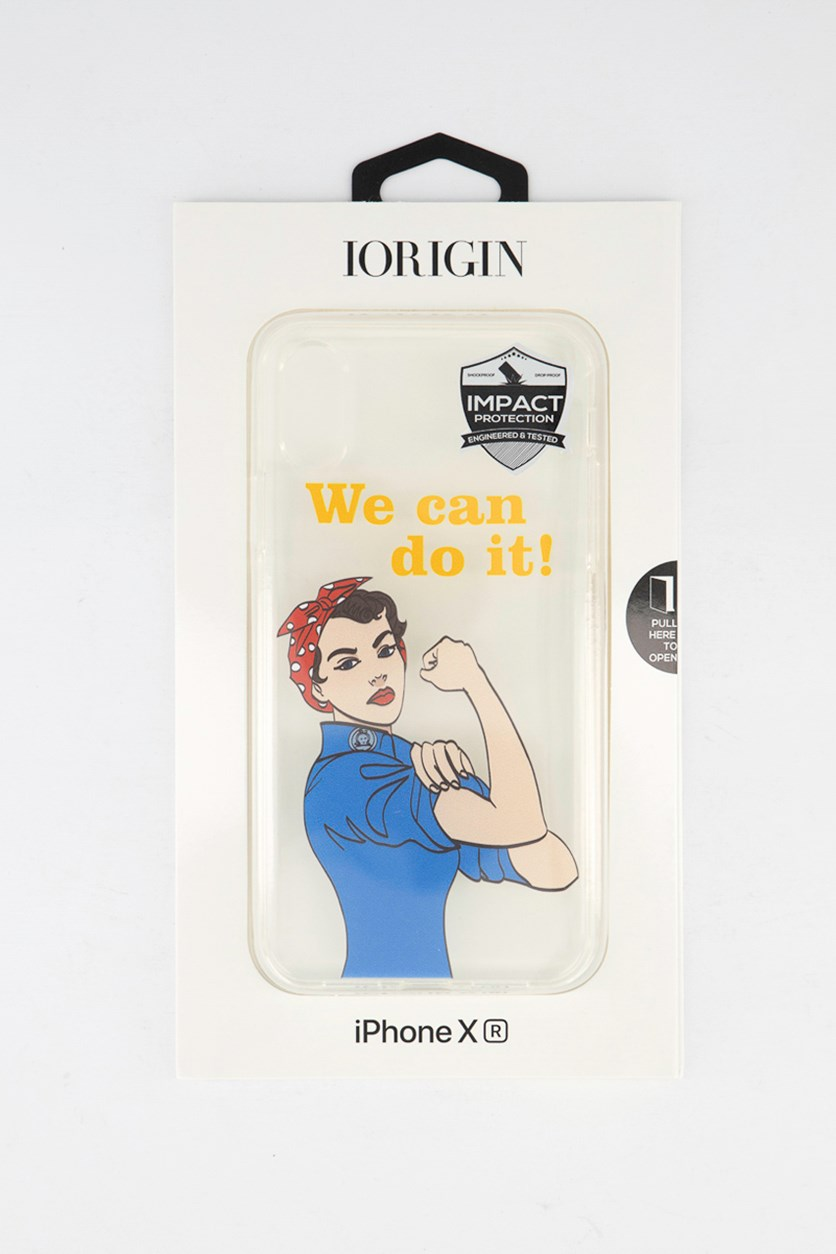 iPhone XR We Can Do It Soft Case, Clear