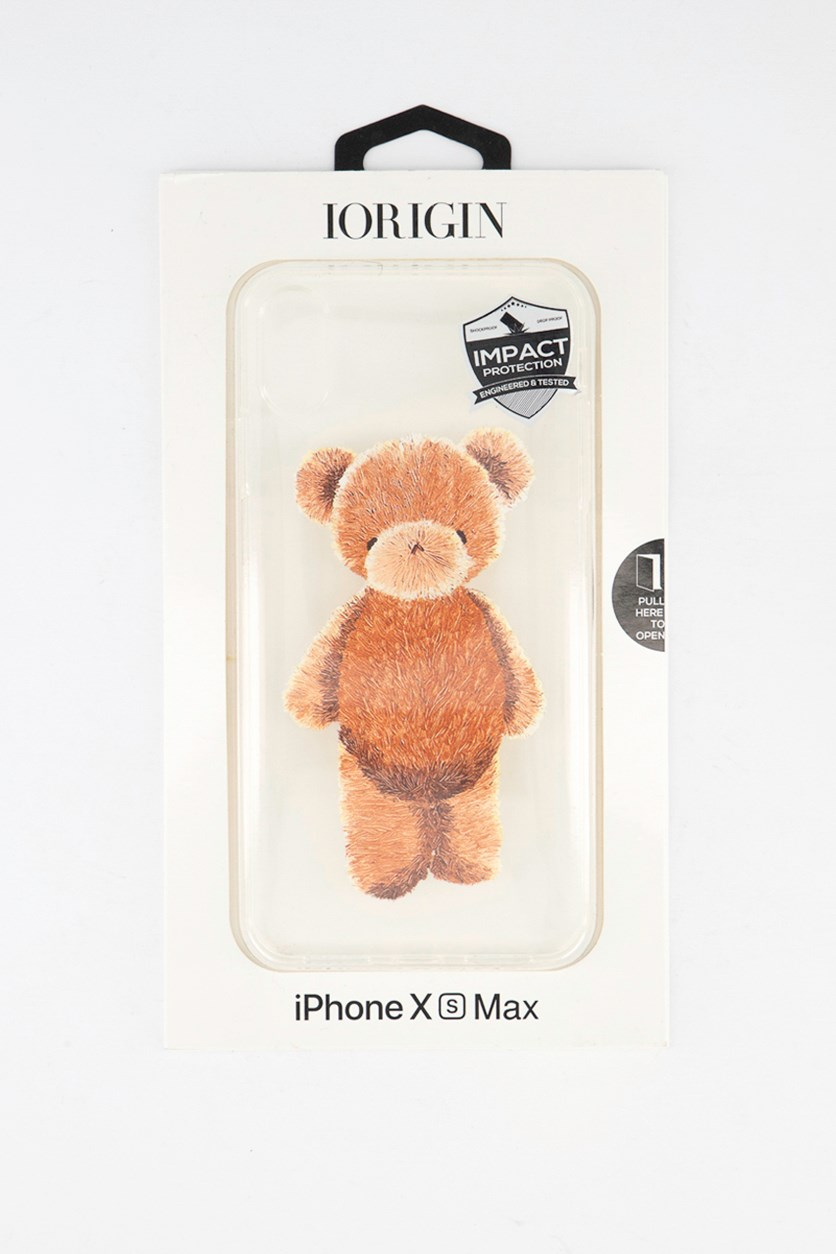 iPhone Xs Max Teddy Bear Soft Case, Clear