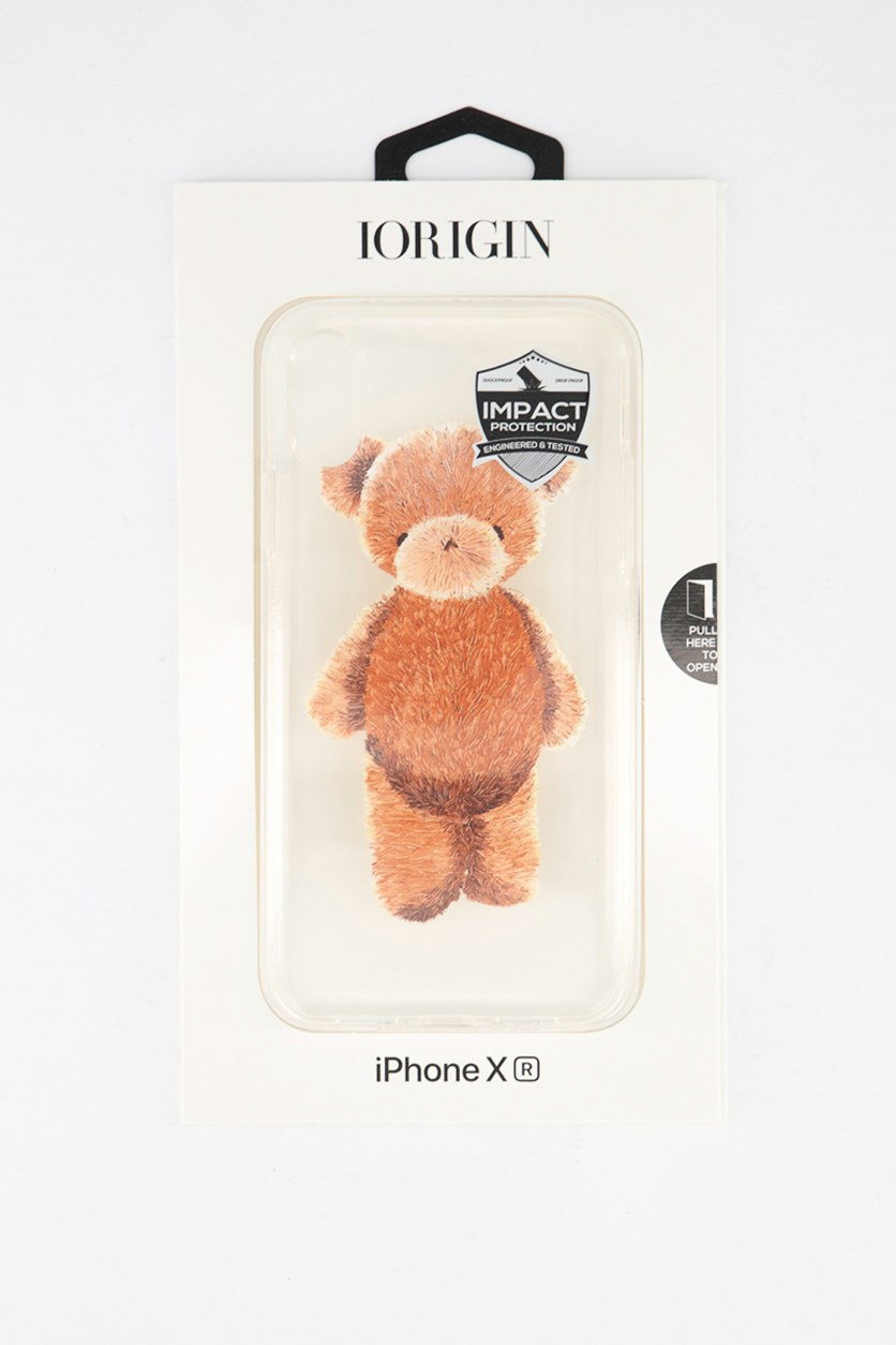 iPhone XR Teddy Bear Soft Case, Clear