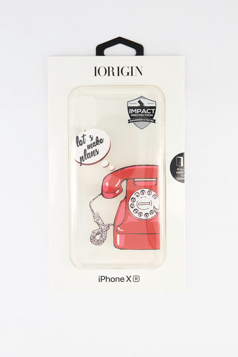 iPhone XR Lets Make Plans Soft Case, Clear/Red