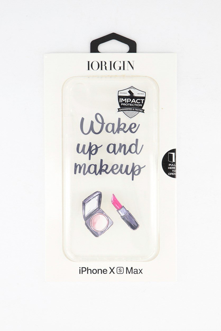 iPhone Xs Max Wake Up & Makeup Soft Case, Clear