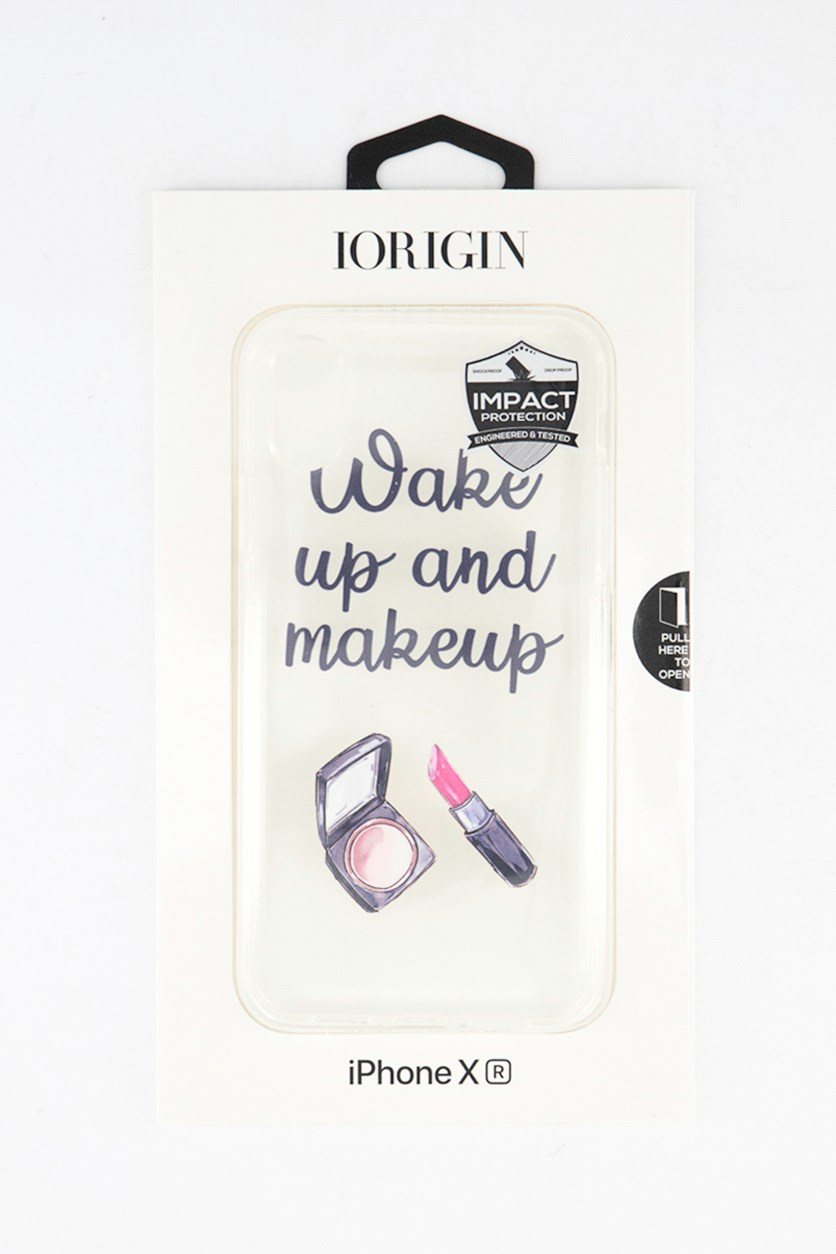 iPhone XR Wake Up & Makeup Soft Case, Clear
