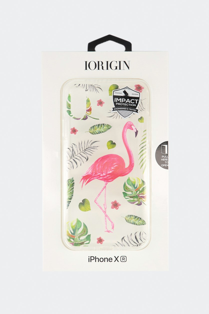 iPhone XR Flamingo Soft Case, Clear