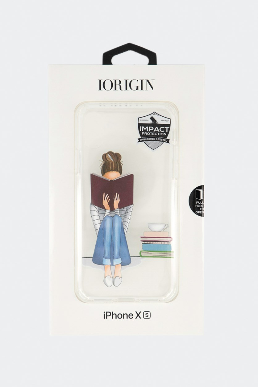 iPhone Xs Bookworm Hard Case, Clear