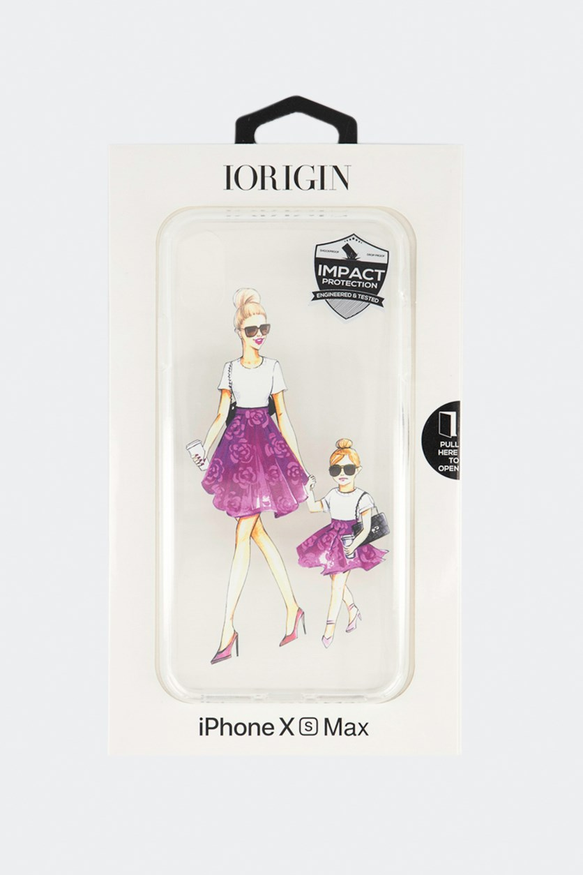 iPhone Xs Max Mom & Daughter Hard Case, Clear