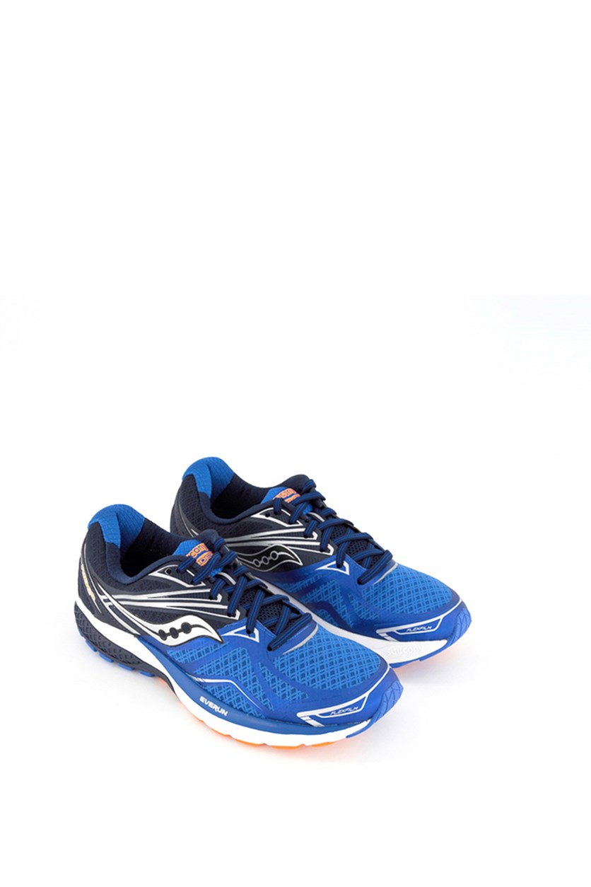 Men's Ride 9 Running Shoes, Gray/Blue/Orange