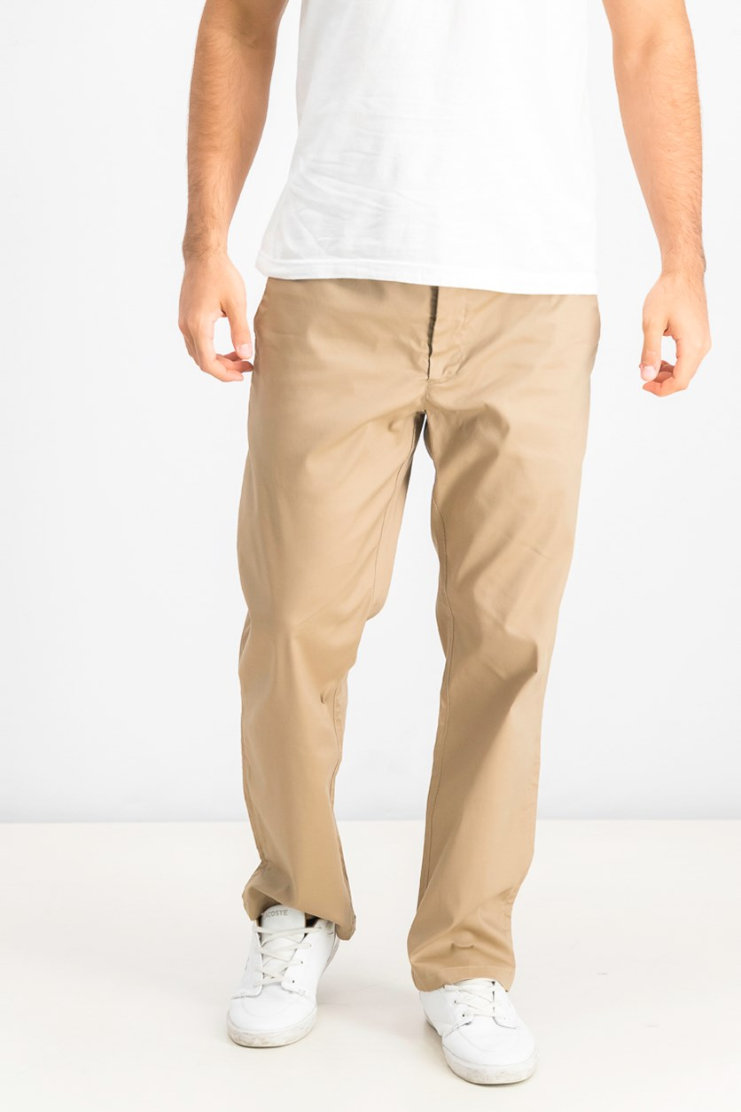 Men's Straight Fit Parker Pants, Tan