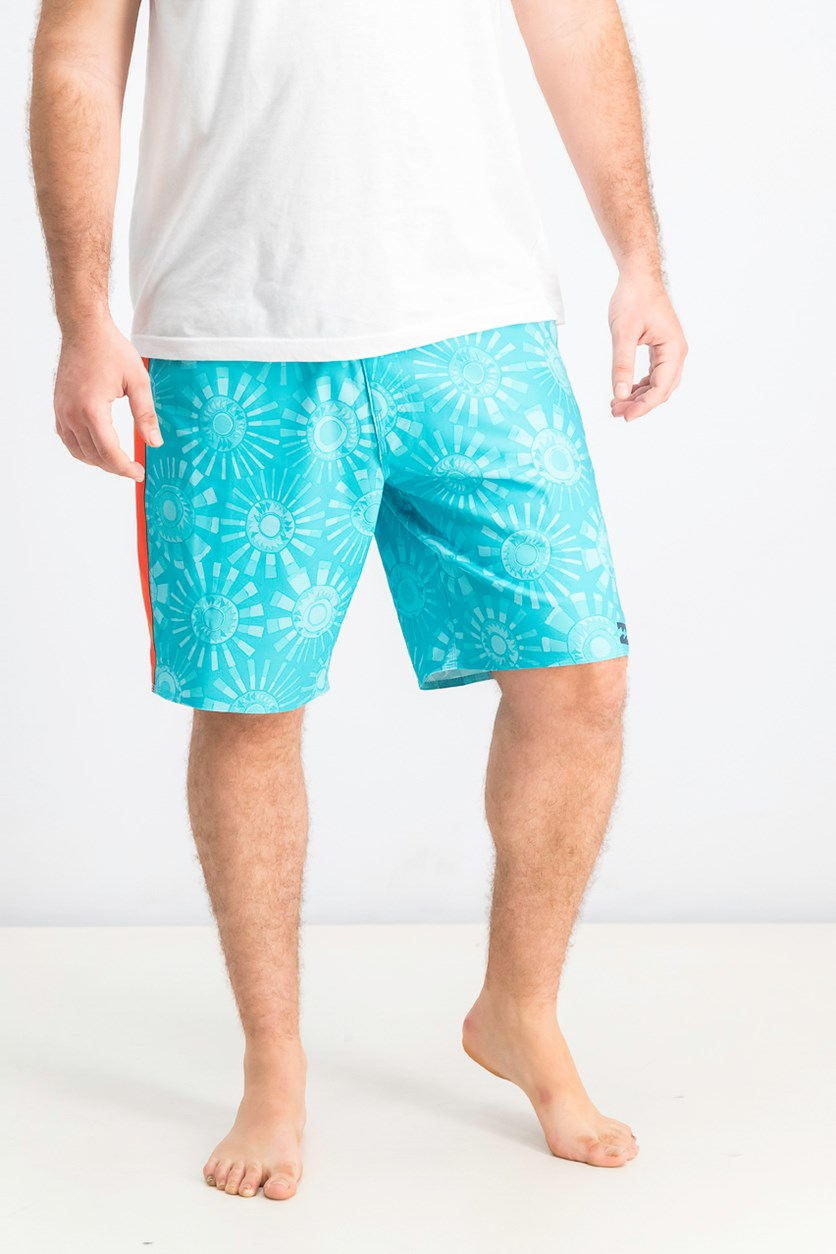 Men's  Airlite Board Shorts, Aqua Combo