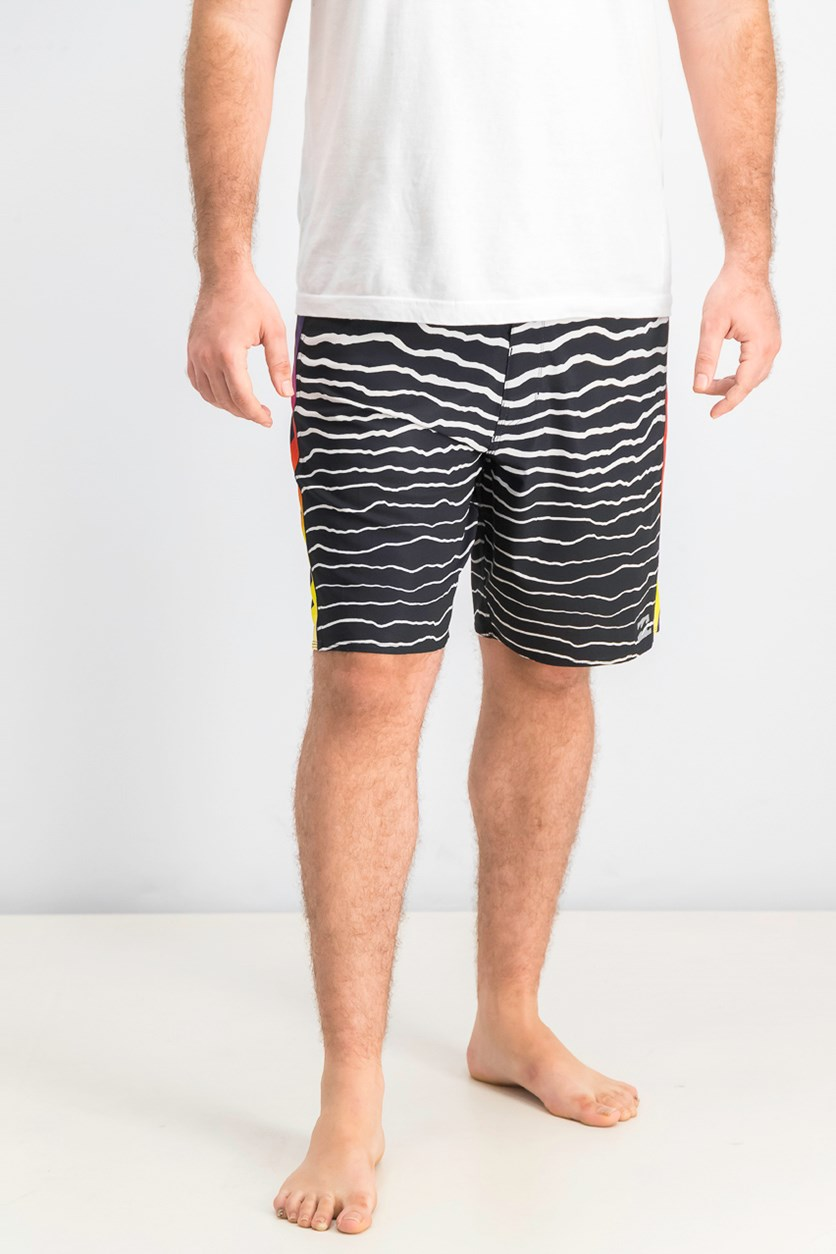 Men's Airlite Board Shorts, Black/White