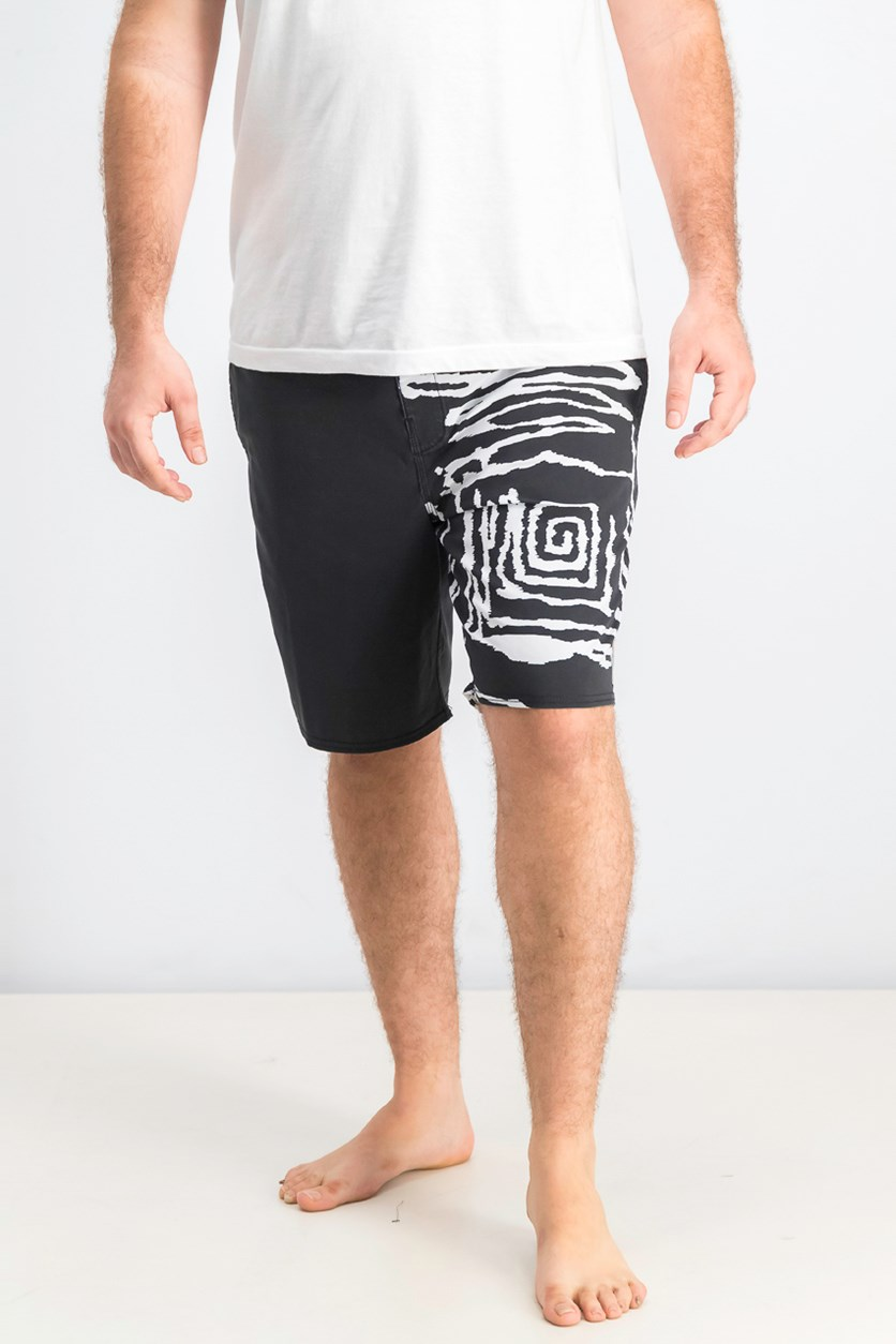 Men's Sunday Boardshort, Black/White
