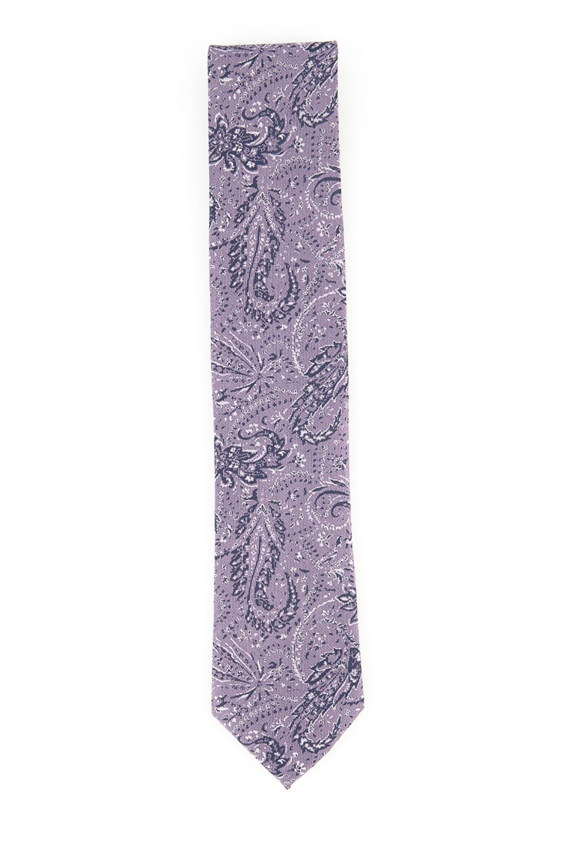 Men's Woven Artisanal Paisley Tie, Purple