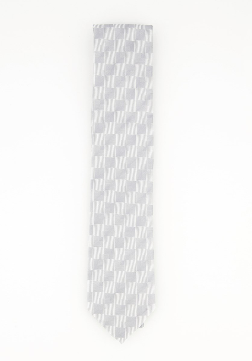 Men's Necktie Linear Shadow, Silver