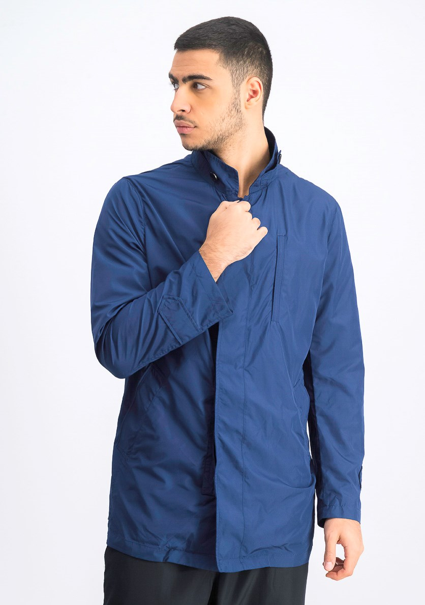 Men's Packable Rain Coat, Royal Blue