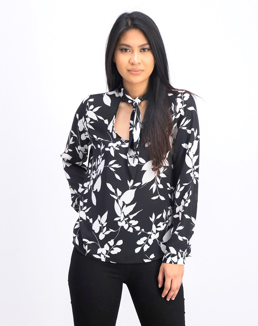 Women's Woven Blouse, Black/White