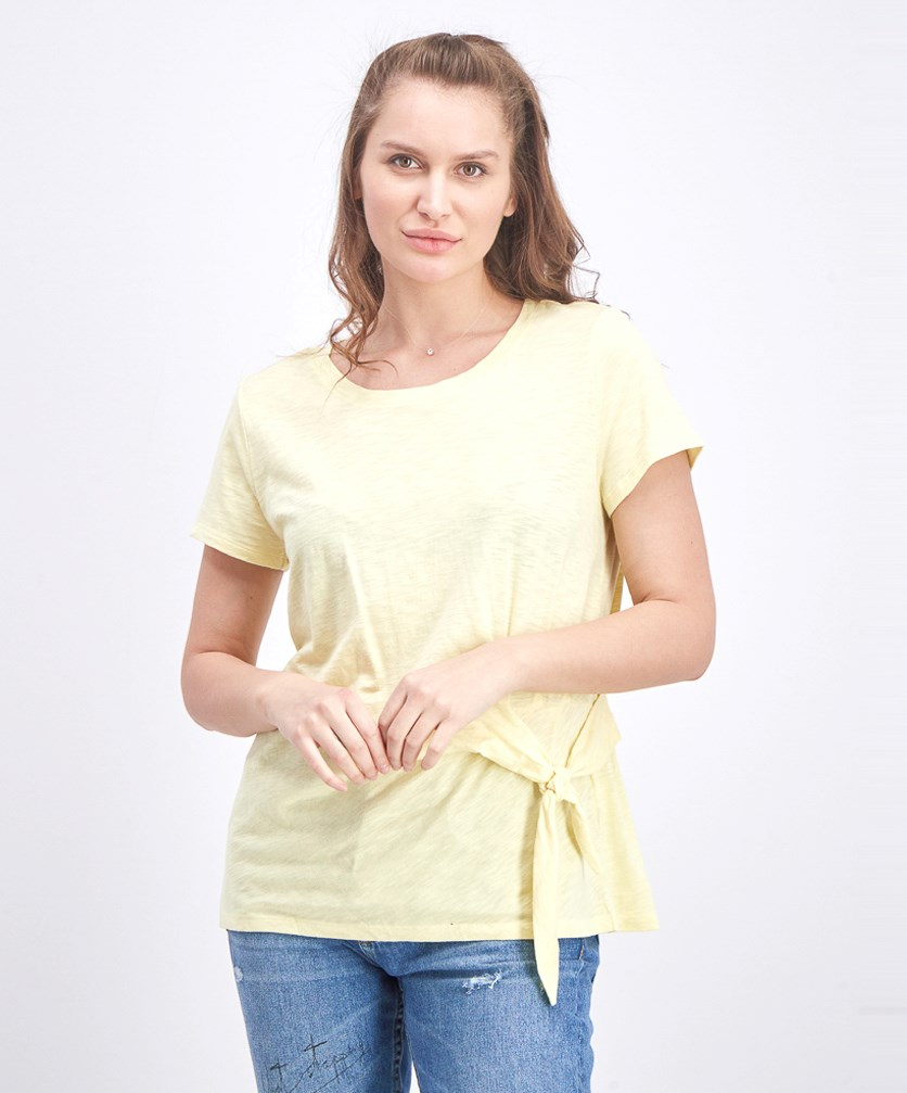 Women's Side-Tie Top, Soft Sun