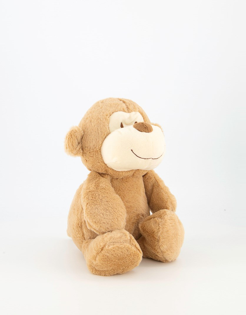 Monkey-Stuffed-Animal-Plush-Toy, Brown