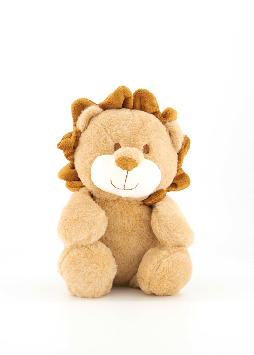 Baby Cuddle Plush With Crinkle And Rattle, Lion