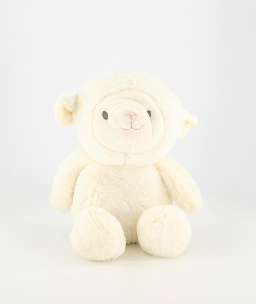 Cuddle Baby Lamb With Crinkles Ears And Rattler, White