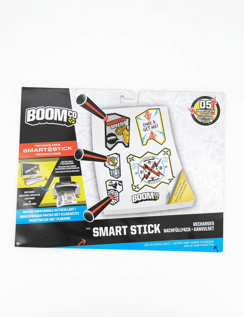 Boomco Refill Pack Targets Stickers to print, Black/White Combo