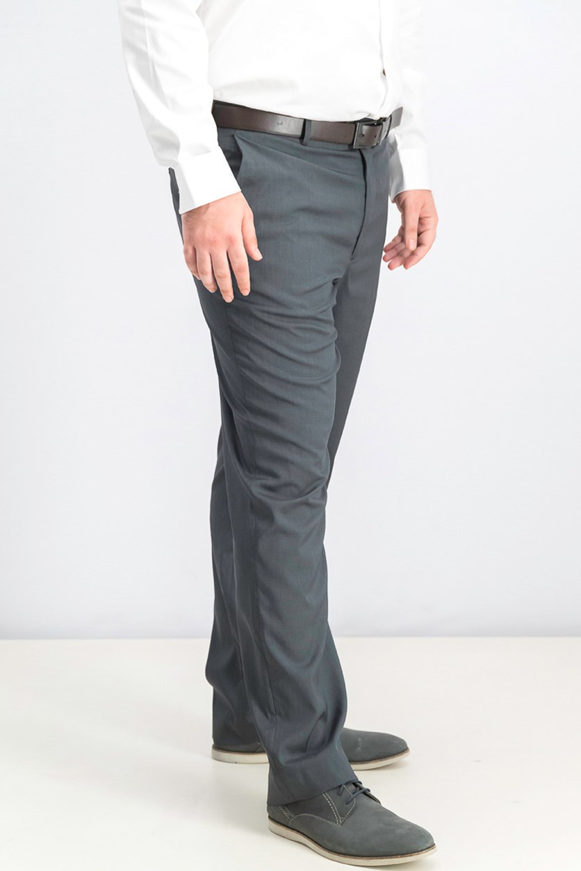 Men's Crosshatch Dress Pants, Charcoal