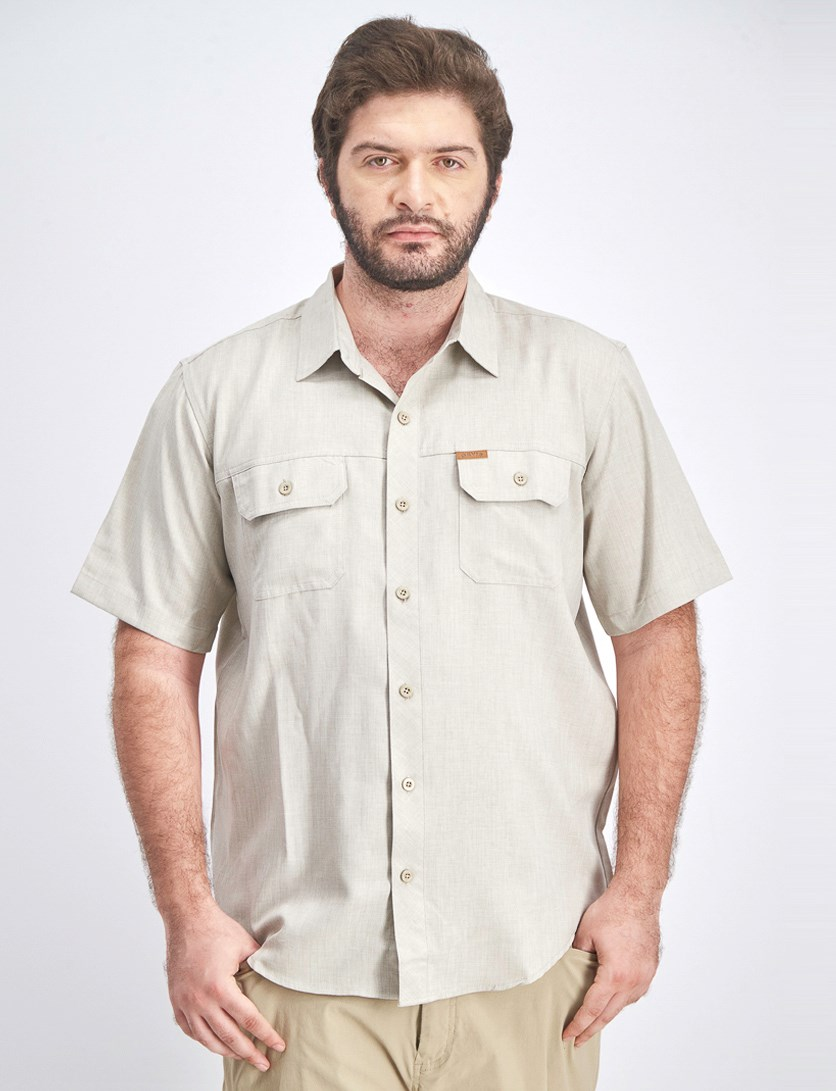 Men's Tech Shirt, Khaki Neutral