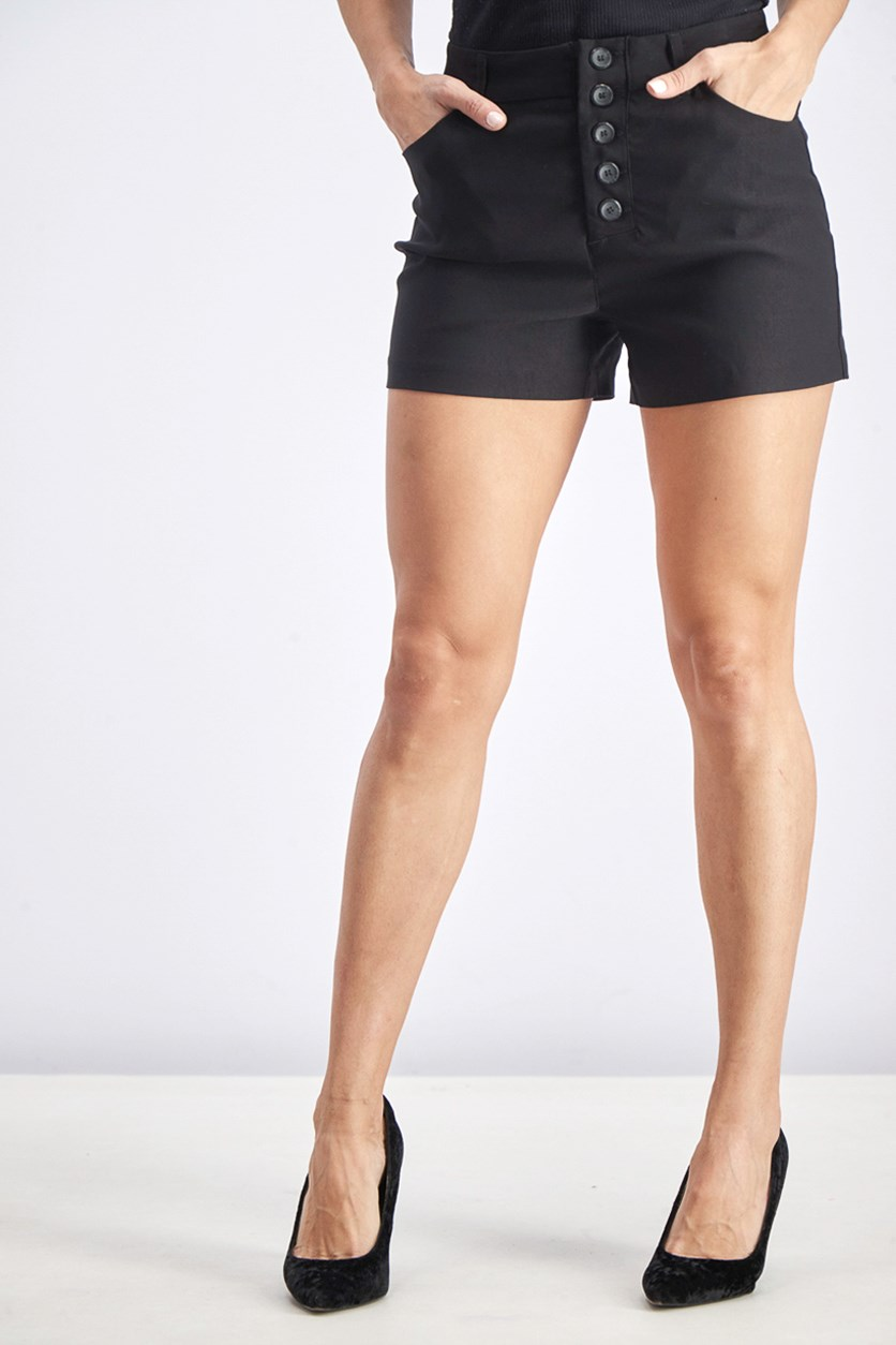 Women's Front Pocket Short, Black