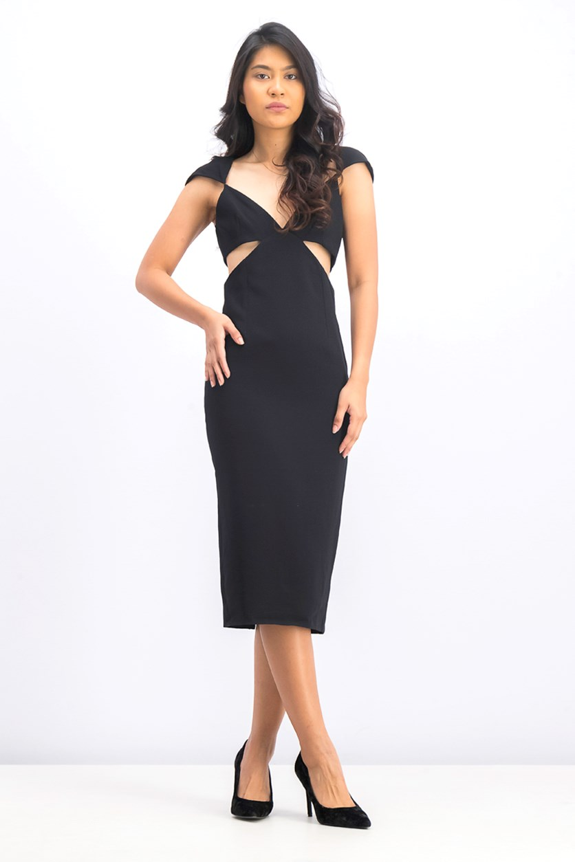 Women's Greta Cutout Sheath Dress, Black