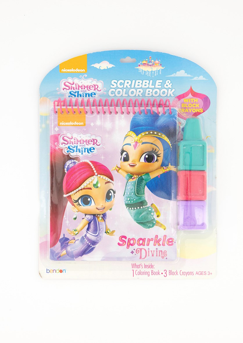 Shimmer And Shine Scribble & Color Book, Pink